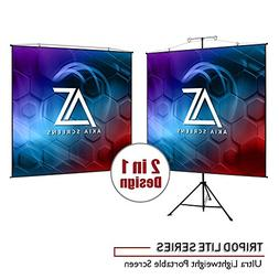 Akia Screens 2 in 1 Portable Projector Screen Dual Tripod St