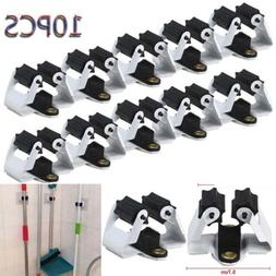 10 Pack Wall Mount Mop and Broom Holder Hanger Kitchen Clean