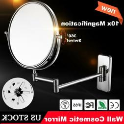 10X Magnification Wall Mount Double Side Vanity Makeup Cosme