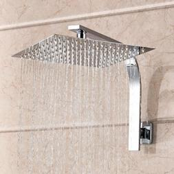"12"" Large 1/2Inch Rainfall Shower Head Brass Bathroom Ceilin"