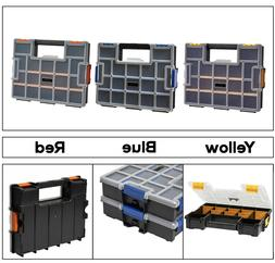 15 Compartment Wall Mount Small Parts Organizer Various Colo