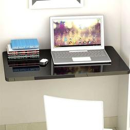 1PC Black Color Wall Mount Floating Folding Computer Desk Ho