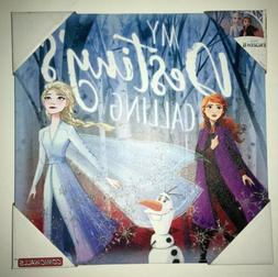 """Frozen 2 12""""X12"""" Full Color Textured Canvas Wall Mount:"""