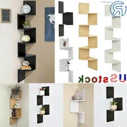2-3-5 Tier Wall Mount Corner Floating Display Home Furniture