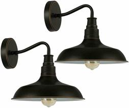 DEWENWILS 2-Pack Indoor Outdoor Wall Sconces Gooseneck Barn