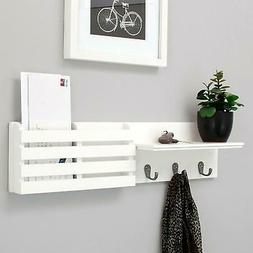 "24"" Hanging Entryway Floating Storage Shelf Wall Mount Shelv"