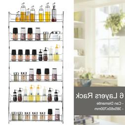 6 tier spice rack wall mount kitchen