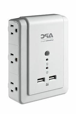 APC 6-Outlet Wall Surge Protector 1080 Joules with USB Charg