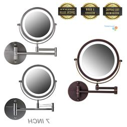 Ovente Wall Mounted Vanity Makeup Mirror 7 Inch with 1X10X M