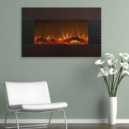 Northwest 80-422S Mahogany Fireplace with Wall Mount & Floor