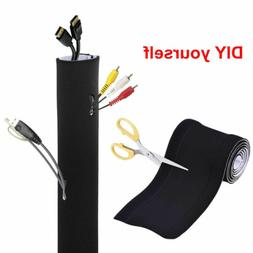 """80"""" Cable Organizer Management Hider Sleeves Wall Mount TV P"""