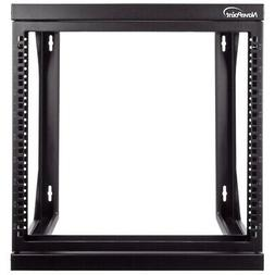 "9U Wall Mount IT Open Frame 19"" Network Rack with Swing Out"