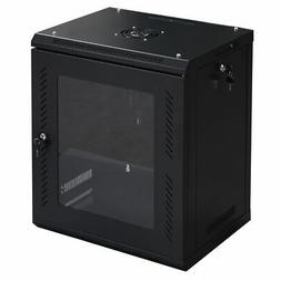 Goplus 12U Wall Mount Network Server Data Cabinet Enclosure