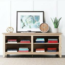 """New 58"""" Modern Tv Console Stand - Natural Finish"""