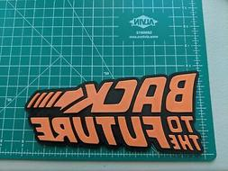 Back To The Future BTTF logo 3D printed color wall mount dis