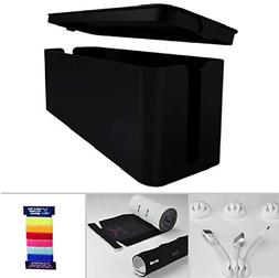 Cable Management Box, Cord Organizer and Cover with Cable ki