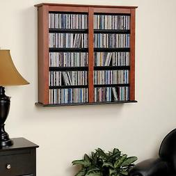 cherry double wall mounted storage
