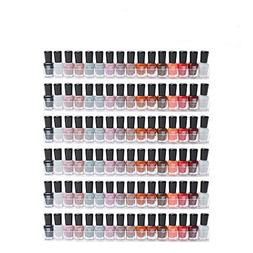 Display4top 6 Pack Of Clear Acrylic Nail Polish Rack, Kids I