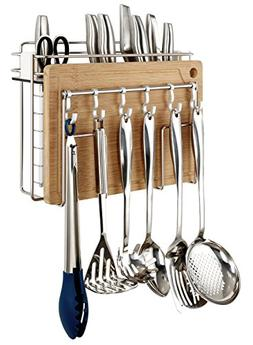 Miusco Cooking Utensil & Cutting Board Holder, Wall Mount, S