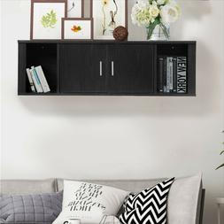 Wall Mount Hutch Floating TV Storage Decor Book Shelf Hangin