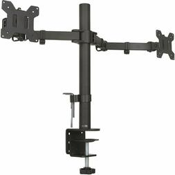 dual lcd monitor fully adjustable desk mount