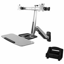 Dual Monitor & Keyboard Sit-Stand Wall Mount | Standing Tran