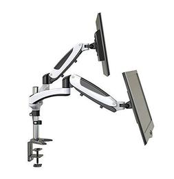 HUANUO Dual Monitor Mount, Full Motion Monitor Arm Stand, He