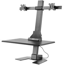 VonHaus Electric Double Monitor Riser – Motorized Sit-Stan