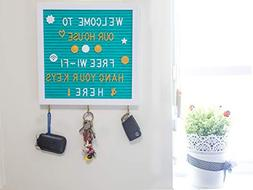 Felt Letter Board 10X10'' with 3 Key Hangers & 320 Changeabl