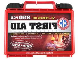 First Aid Kit 250 Piece 50/person OSHA/ANSI Approved. Constr