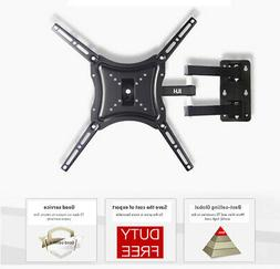Full Motion TV Wall Mount Up and down 30° Bracket Swivel Fo