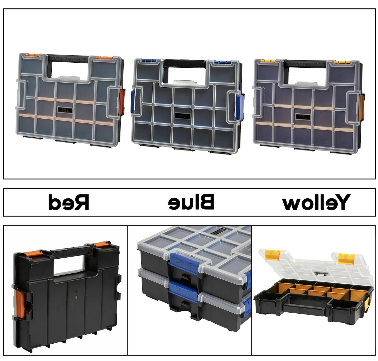 15 compartment wall mount small parts organizer
