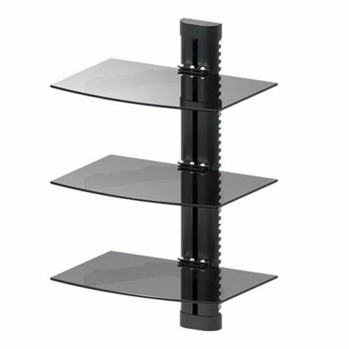 3 tier glass shelf wall mount under