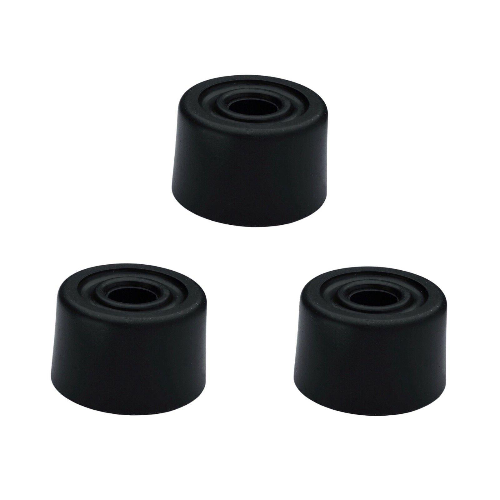 3 x Large Black Rubber Door Stop Stops Stopper 33mm