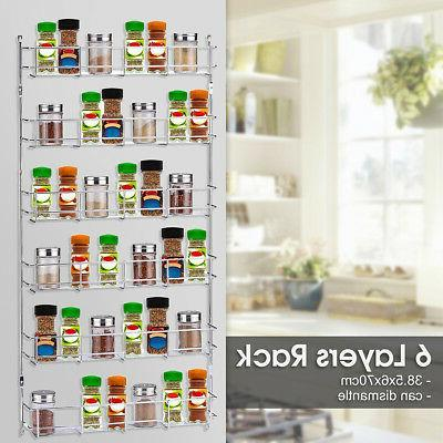 6 Wall Mount Jar Pantry