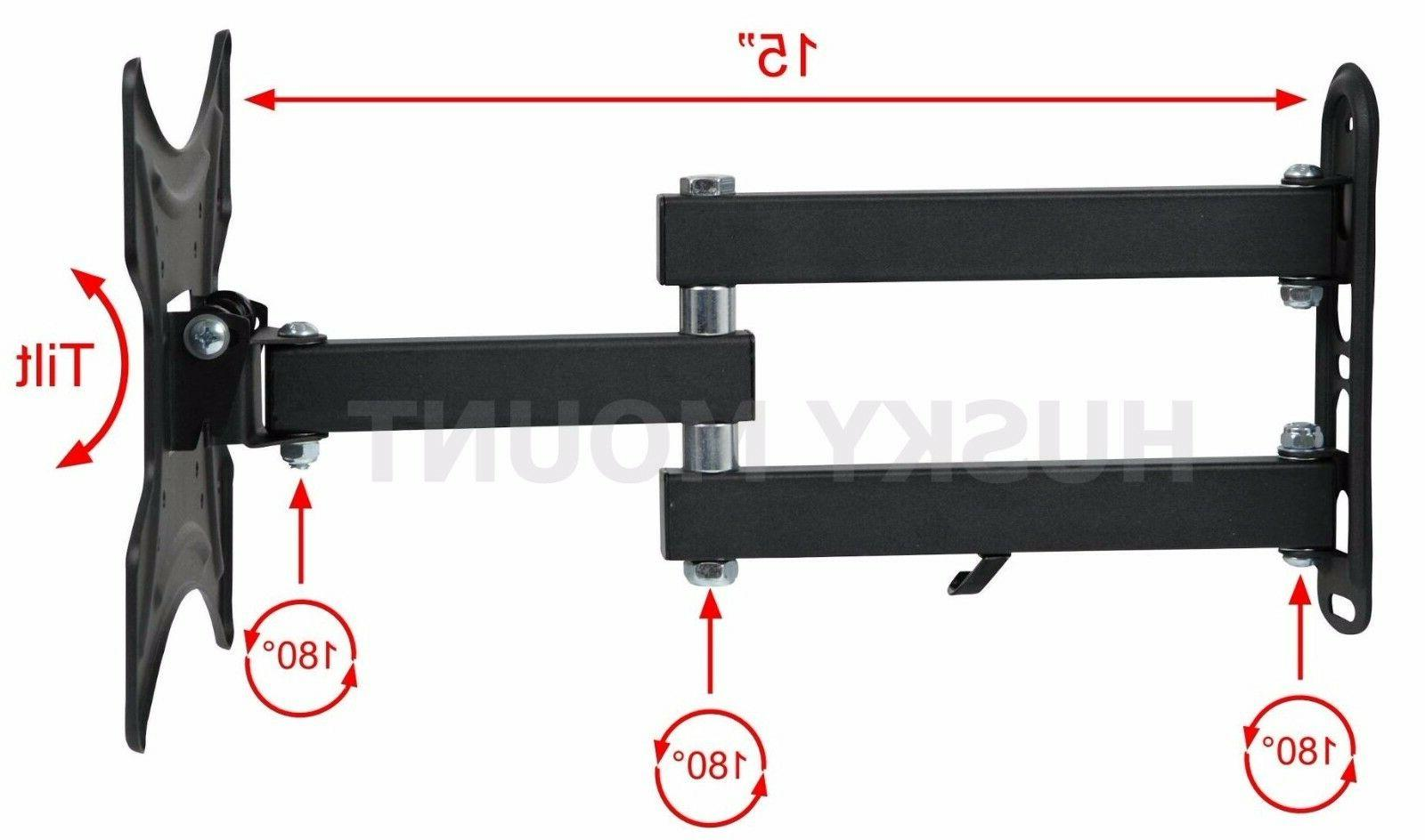Full TV Wall Mount Articulating 24 32 37 40 Inch LED LCD
