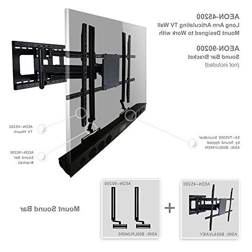 Full Motion TV Mount Long Extension to 80 inch