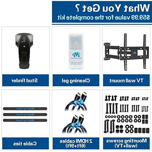 Mounting Dream Full TV Mount for 26-55 Inches TVs, & HDMI Cables, TV up VESA