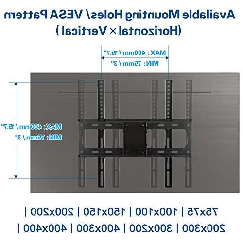 Mounting TV for Inches TV Kit & HDMI Cables, TV Wall Mount up to 400x400mm and
