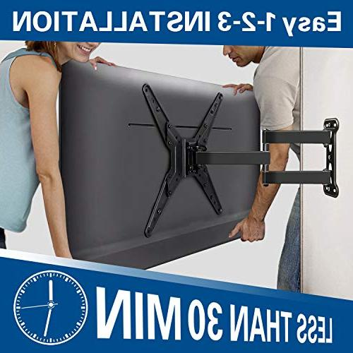 TV Wall with Perfect for 26-55 Inch LED , LCD , Flat Screen Mount Arm , VESA 400x400mm MD2413-MX