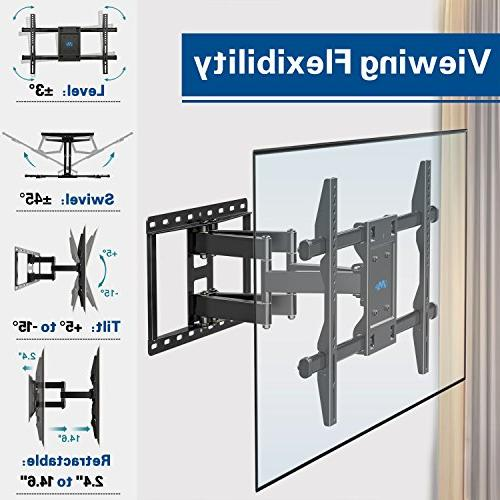 Mounting Full motion TV Wall Mount for 42-70 Inch LED, LCD and OLED Screen Bracket, up x 400mm and 100 LBS Loading, MD2296