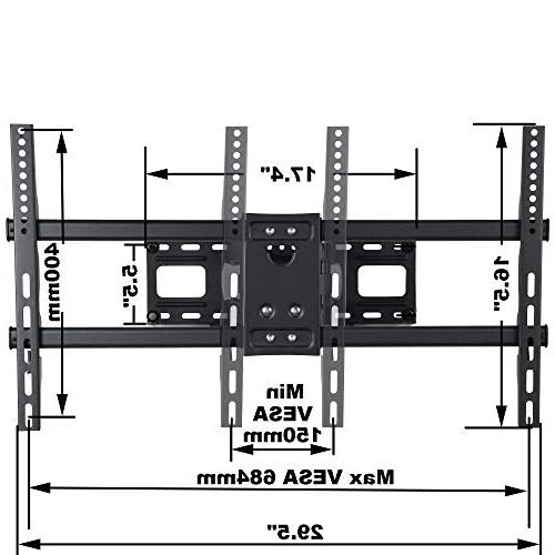 """VideoSecu MW380B5 Articulating TV Mount Bracket LED Up lbs with 684x400 400x400 Arm Pulls Out Up 14"""" AW9"""