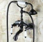 Black Oil Rubbed Brass Wall Mounted Bathtub Mixer Tap Set Sh