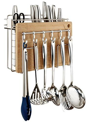 cooking utensil cutting board holder