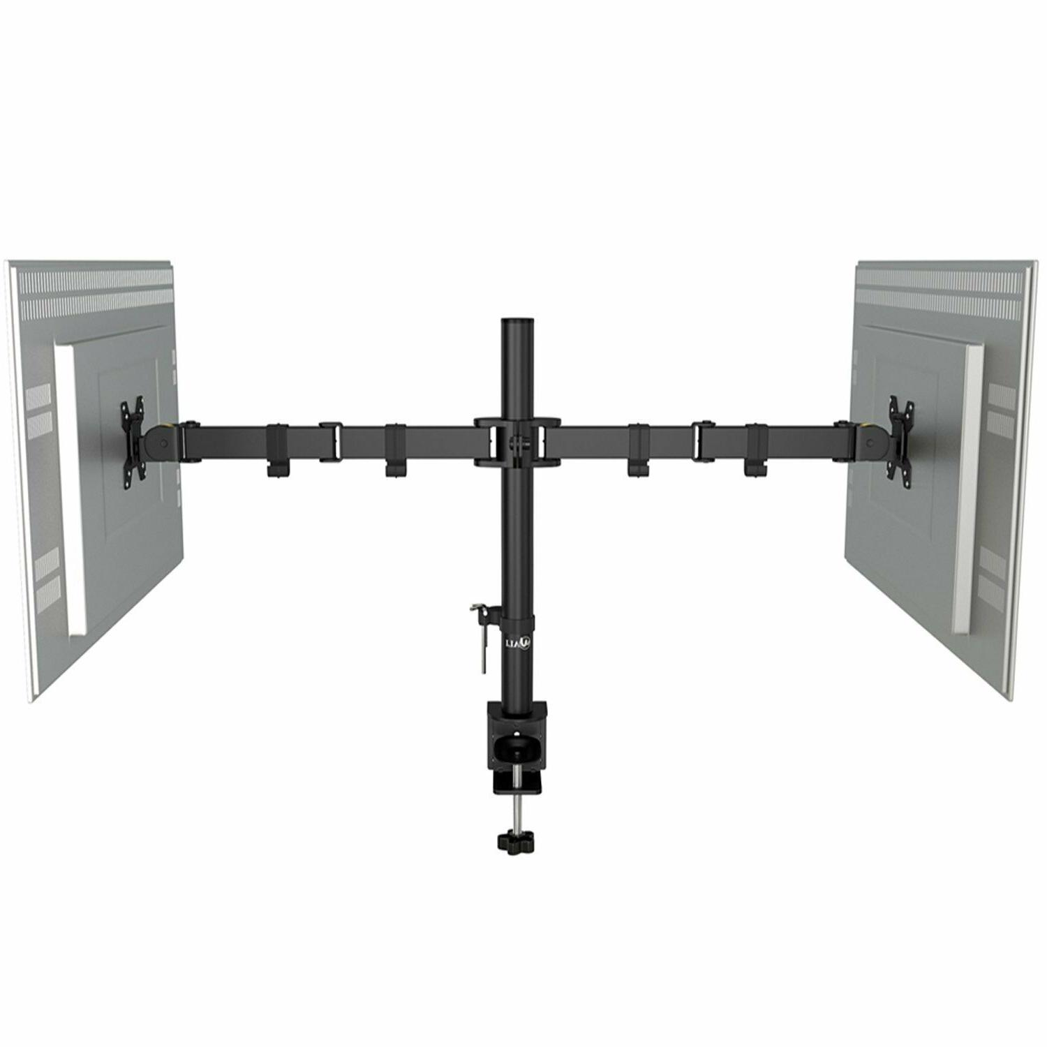WALI Dual LCD Fully Adjustable Desk Stand Fits up