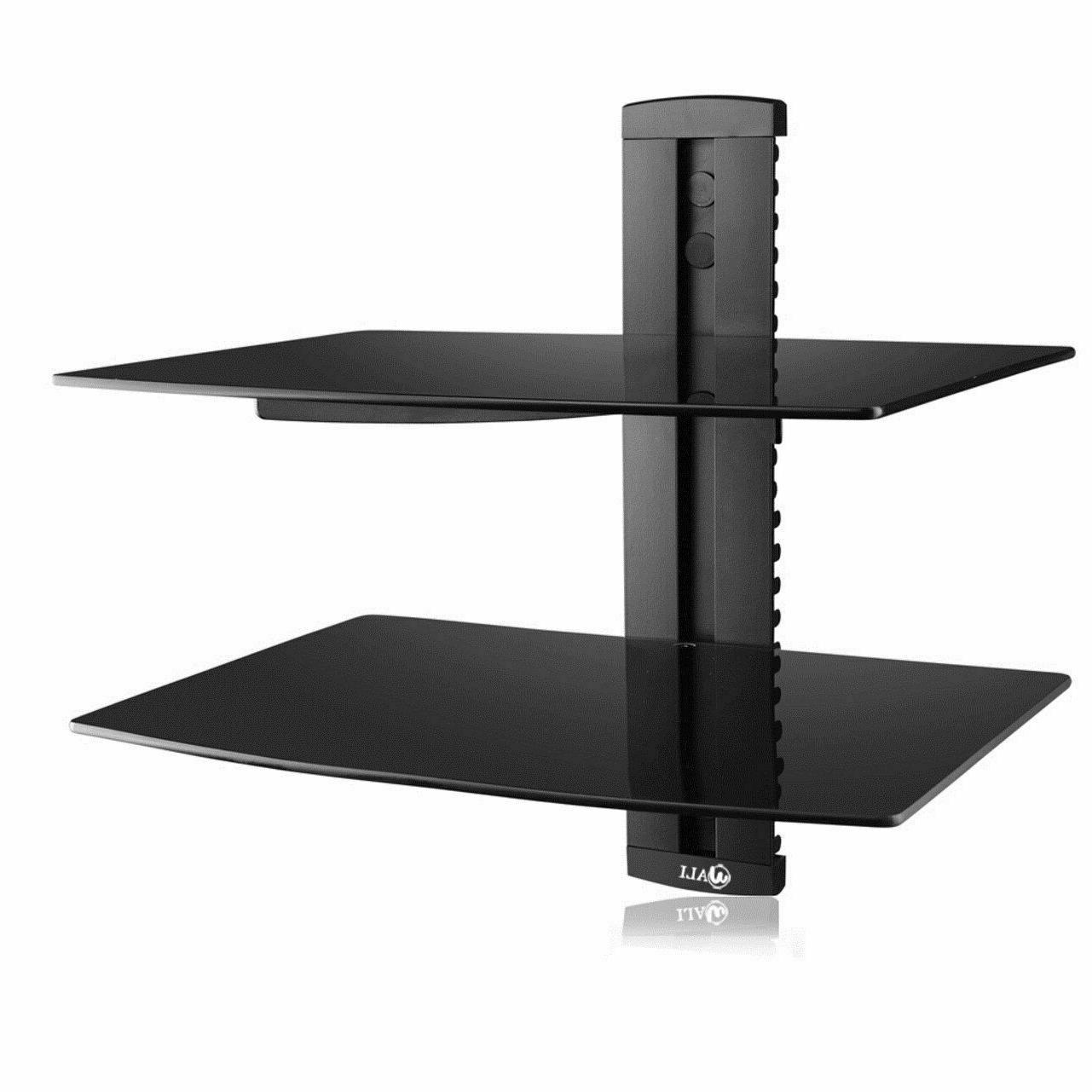 dvd wall mount with strengthened tempered glass