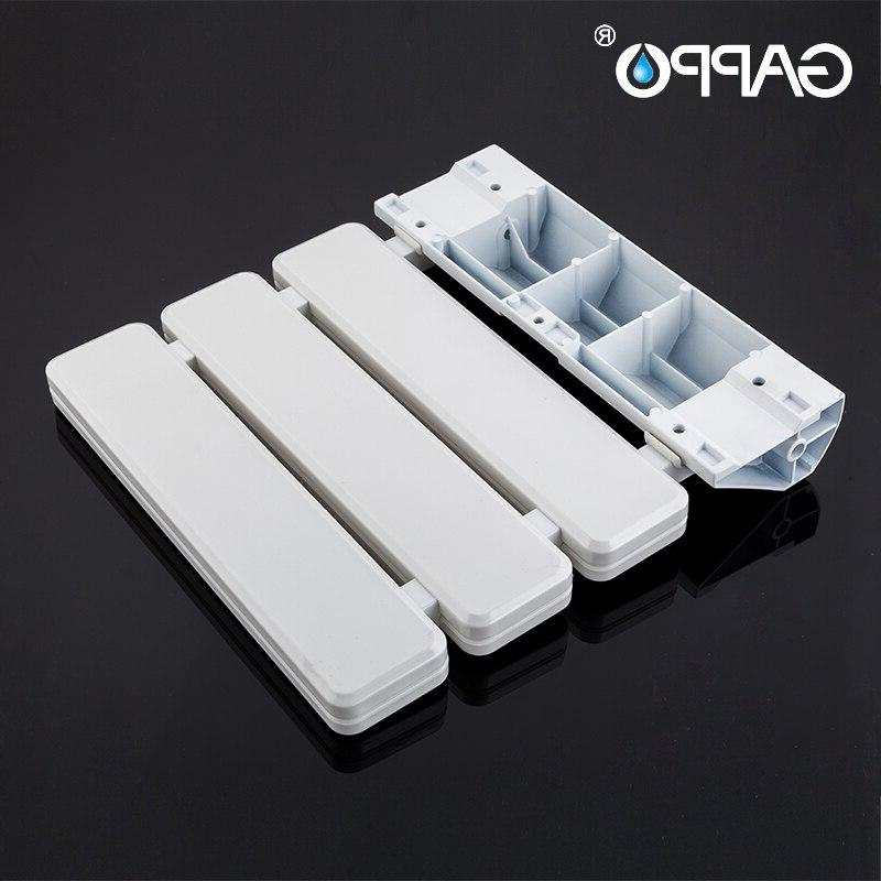 GAPPO <font><b>Mounted</b></font> Shower Seats Plastic Bathroom Stool Durable Relax Toilet For Shower