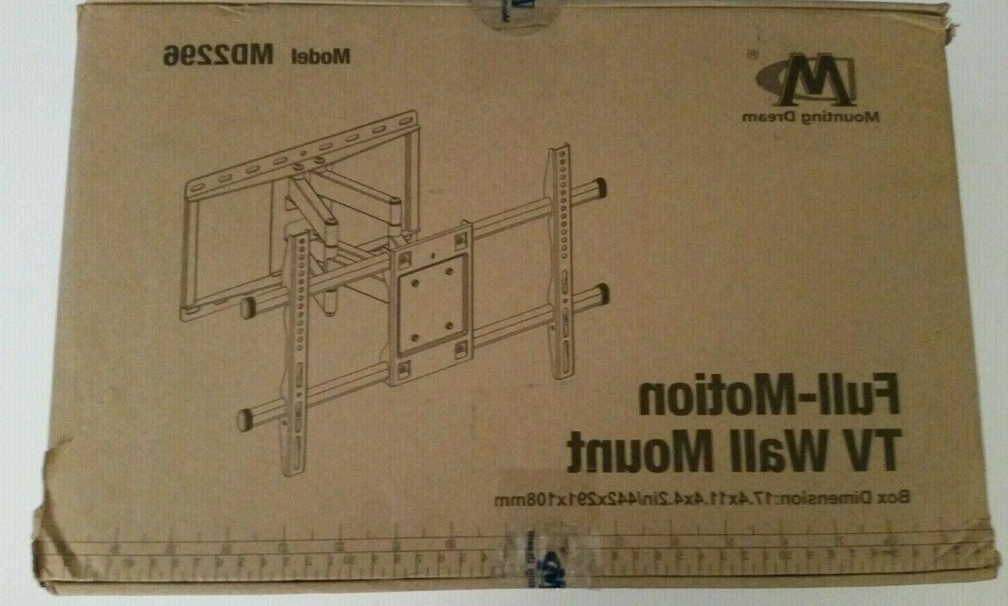 full motion tv wall mount fits most