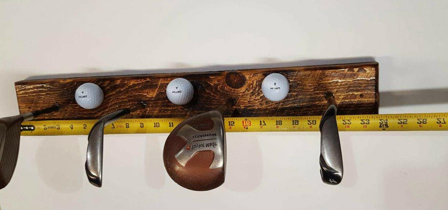 Golf Rack Wall Drivers Balls Fathers Day Gift