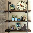 Industrial Retro Iron Pipe Shelf Wall Mount Storage Book She